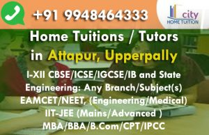 home Tutors in Upperpally