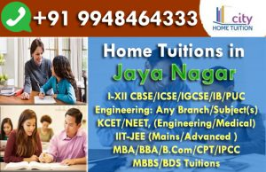 Home Tuitions in Jayanagar